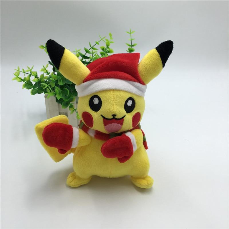 Pikachu Pussel Leksaker Cosplay Julkläder Julklapp för barn Sötleksaker 20cm Pikachu Fyllda Plysch Doll Baby Kids Toy