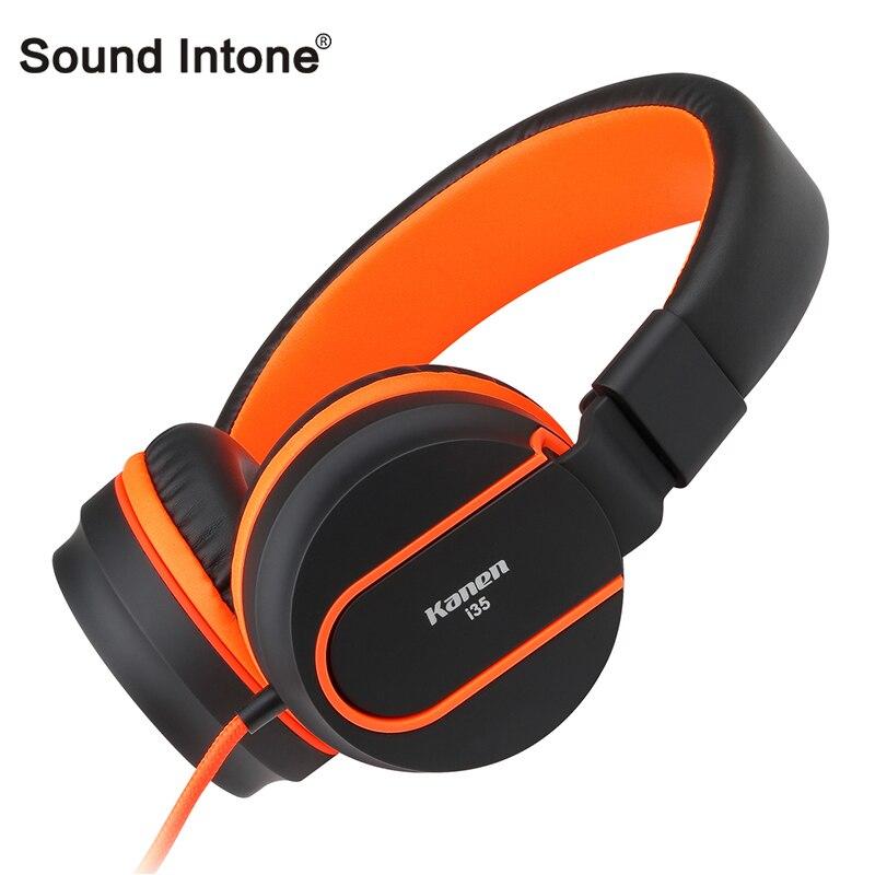 Sonido Intone I35 ajustable auricular plegable Auriculares auriculares fones de ouvido con micrófono para la computadora del teléfono móvil