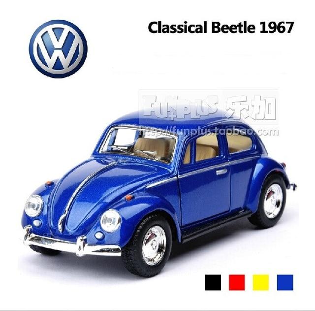 Hoge Simulatie Model Speelgoed Kinsmart Volkswagen Kever 1967 Retro