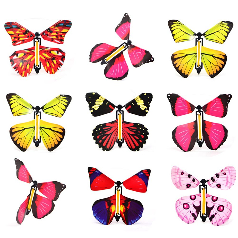 1pc New Magic Toys Transformation Fly Butterfly Props Magic Mystical Fun Classic Toy Surprise Gift Color For Random