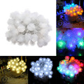 4M 40LED Holiday Battery Snowball LED Strings Fairy Lights Pompon Wedding Party Decoration String Flakes Lamp