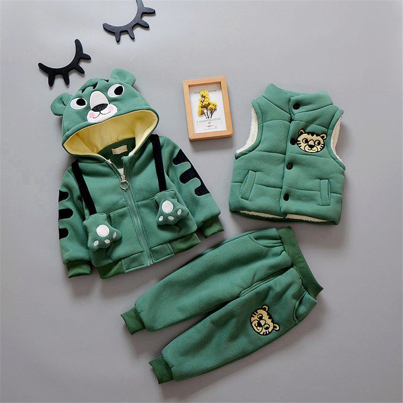 Winter Suits For Boys Clothing Sets Winter Clothes Set Infant Baby Casual Children Suits Toddler Thick Warm Coats 3Pcs Kid Suit baby girls boys winter clothes sets children infant suits kids thick plaid warm coats pants two piece suit children kids suits