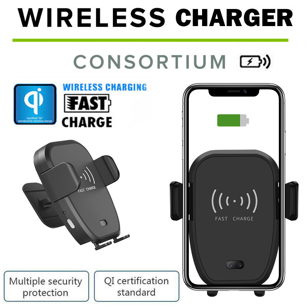 Qi 10W Wireless Charger Dock Car Holder Charging Mount Pad For Samsung S10e/ S10 For iPhone X XR XS Max Samsung Note 9 S9 S8