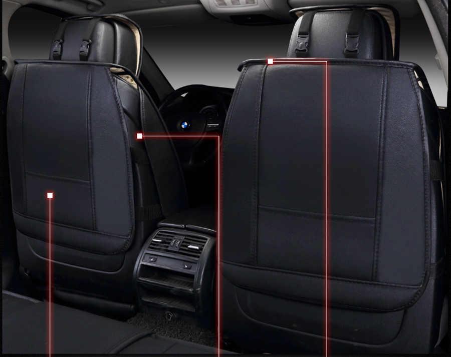 (Ön + Arka) özel Deri araba koltuğu kapakları Toyota Corolla Camry Için Rav4 Auris Prius Yalis SUV ford kia oto aksesuarları