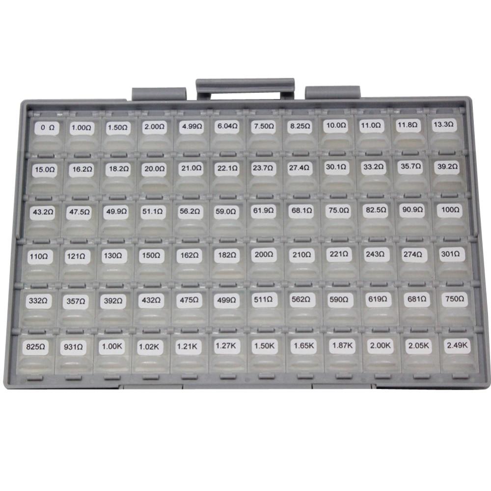 AideTek SMD SMT 0402 Размер 1% Ассорти Резистор Комплект заполнен в пластиковой части коробки 14400 шт. резистор коробка для хранения этикеток R04E24100