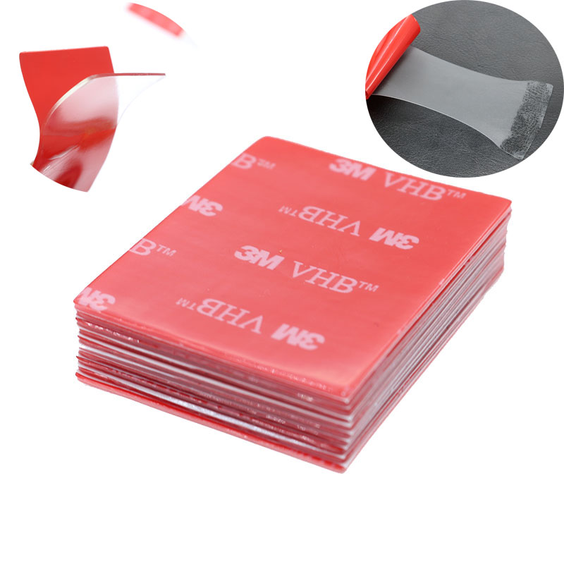10 Pieces / Set, 3MVHB Transparent Double-Sided Tape Foam Pad 40 * 50mm Strong Bonding Accessories Car Office Tape Supplies