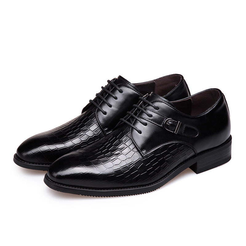 2016 new crocodile pattern leather men's business casual men's shoes fashion boutique dress shoes