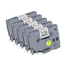 5 個 12 ミリメートルブラックホワイト TZe 231 TZ2 231 ラベルテープ互換ブラザー p タッチ PT200 1000 D210 H110 e110 ラベルプリンタ puty