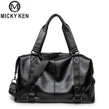 MICKY KEN Brand Oil Wax Leather Handbags For Men Large-Capacity Portable Shoulder Bags Men's Fashion Travel Bags Package