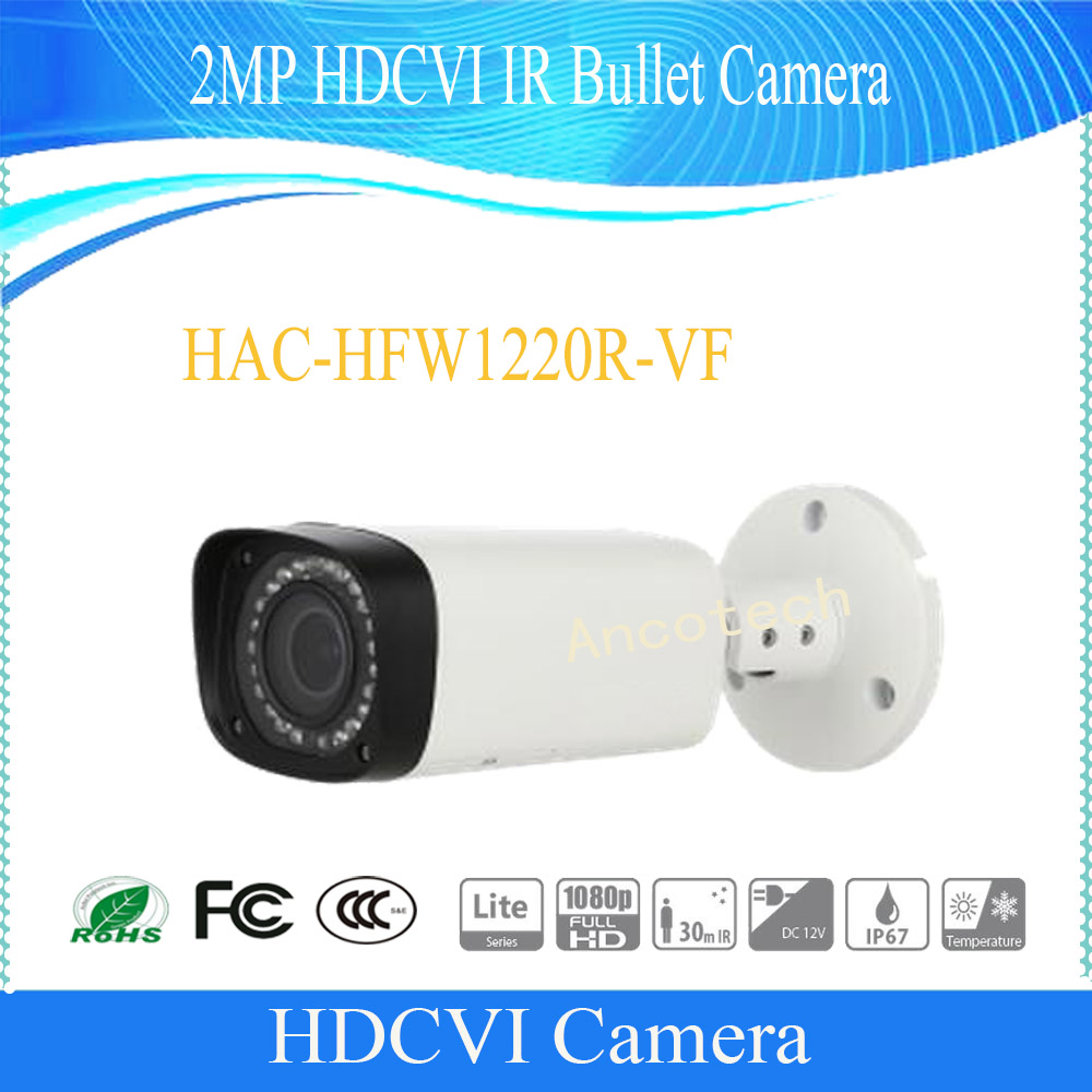 Free Shipping DAHUA CCTV Outdoor Camera 2MP HDCVI IR Bullet Camera IP67 Without Logo HAC-HFW1220R-VF