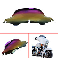 5 Color Choose Brand New 6 Wave Motorcycle Lridium Windshield Windscreen For Harley FLHT FLHTC FLHX