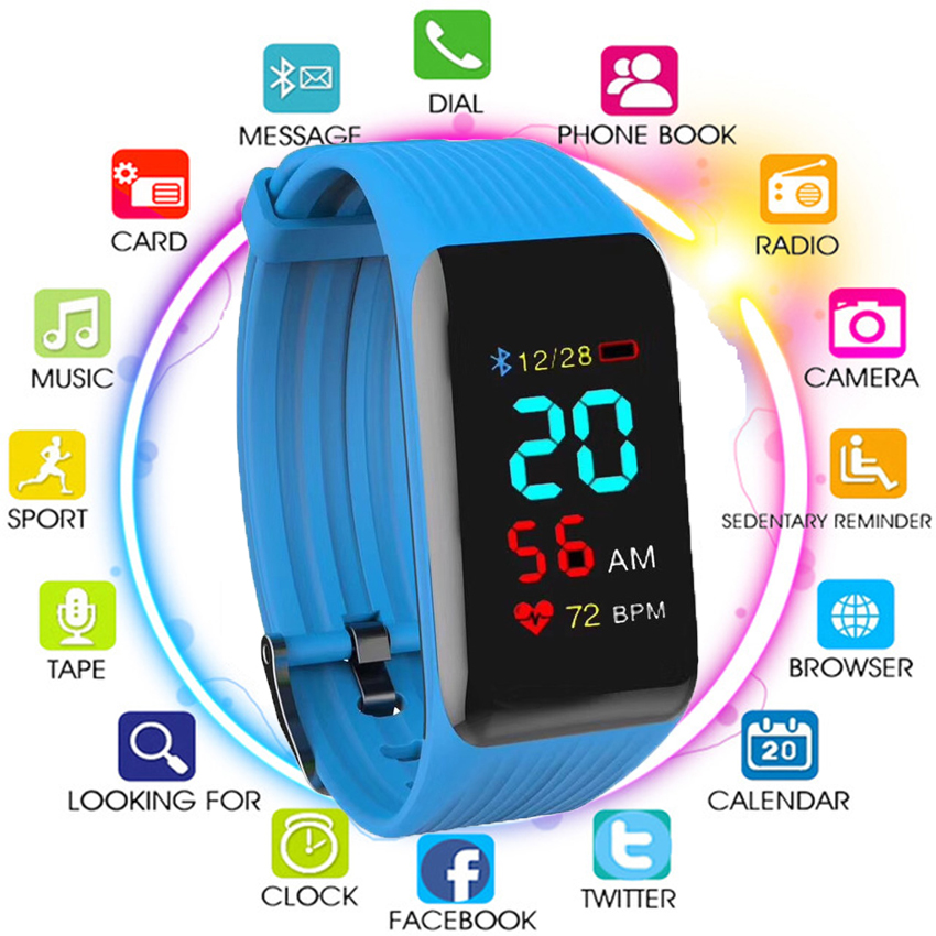 Smart Bracelet K1 plus Fitness Tracker Real-time Heart Rate Monitor Down to Sec Band Activity X1 PK Miband 2 Y5 S2