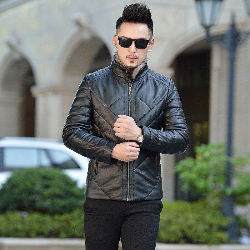 2019 Rushed Jaqueta Masculino Winter New Haining Leather Garment Men's Down Short Slim Korean Mink Fur Collar Jacket Warm Coat