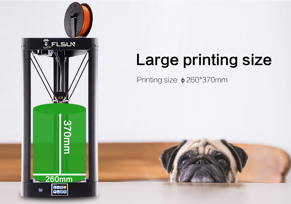 Flsun-QQ 3d Printer Metal Frame Large Size High-speed Pre-assembly Auto-level Hot Bed Touch Screen Wifi SD Card Filament flsun 3d printer big pulley kossel 3d printer with one roll filament sd card fast shipping