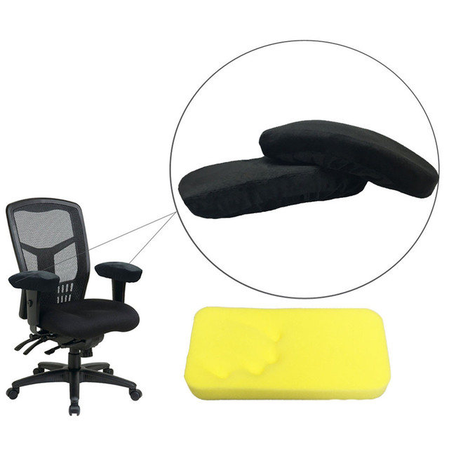 Memory Foam Desk Chair Cushion Outdoor Reclining Lounge With Ottoman 1pcs Sponge Safety Handle Removable Armrest Pads Elbow Arm Rest Cover Sets