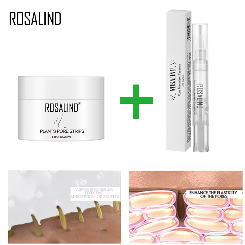 ROSALIND Face Masks Set Face Serum Facial From Black Dots Remove Deep Cleaning Blackhead Nose Strip Peeling Shrinking Nose Pores