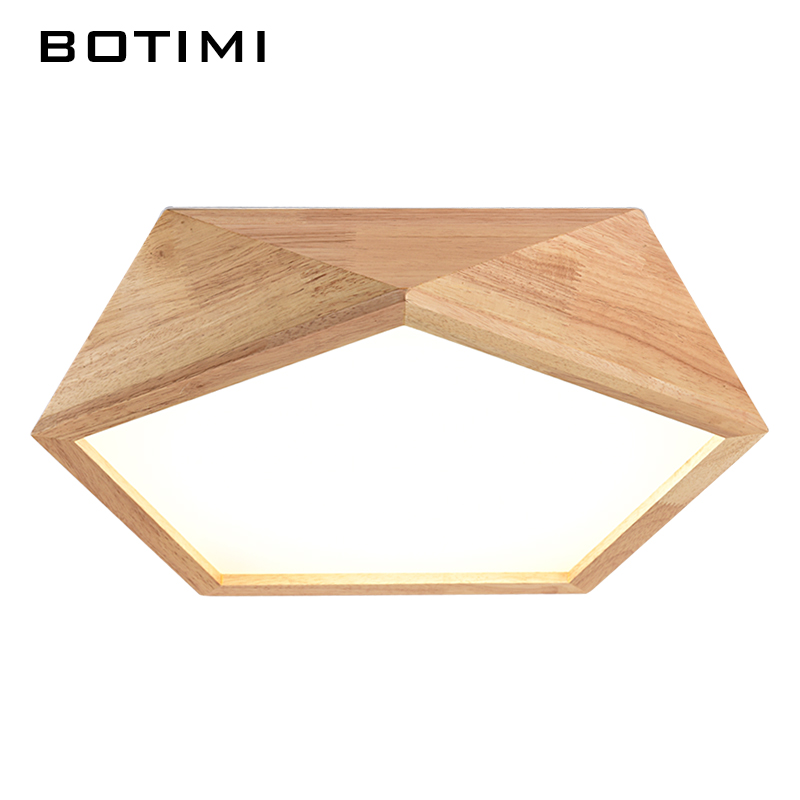 Botimi 2017 New Design Modern Led Ceiling Lights With Square Wood ...