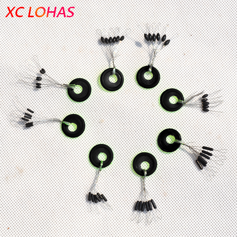 20Set/Lot Colorful Fishing Space Beans Floating Seat Fishing Pin Fishing Tackle Fishing Accessories Supplies