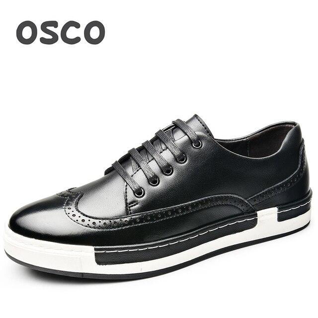 9dd4259770 OSCO Direto Da Fábrica TODA a TEMPORADA Dos Homens Novos Sapatos Da Moda  Homens Sapatilhas de