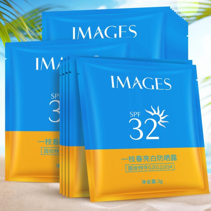 6pcs SPF32+ Sunscreen Cream Isolation UV Sunblock Body Sunscreen Concealer Water Resistant Oil Control