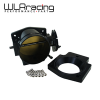 WLR RACING 102mm Throttle Body +Manifold Adapter Plate for LS LS2 LS3 LS6 LS7 LSX BLACK WLR6938+TBS51
