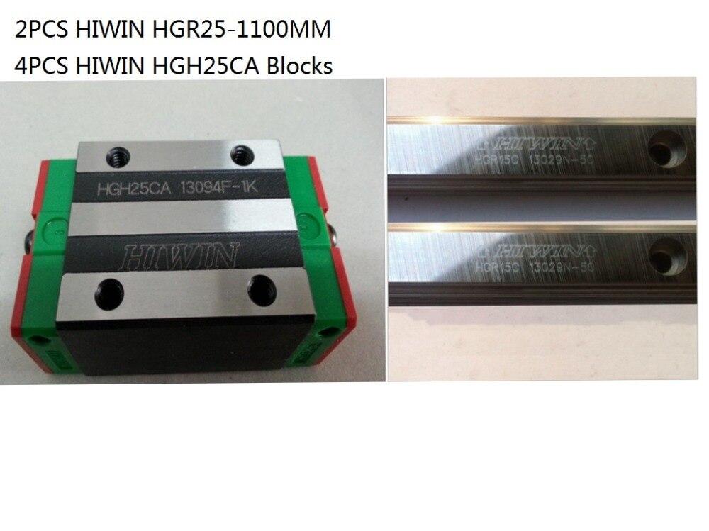 2pcs 100% original Hiwin HGR25-1100mm  and 4pcs HGH25CA narrow blocks for cnc2pcs 100% original Hiwin HGR25-1100mm  and 4pcs HGH25CA narrow blocks for cnc