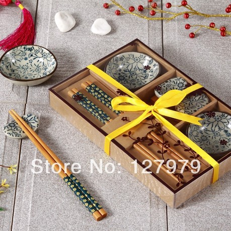 Chinese wind ceramic tableware set japanese style dishes for Japanese inspired gifts