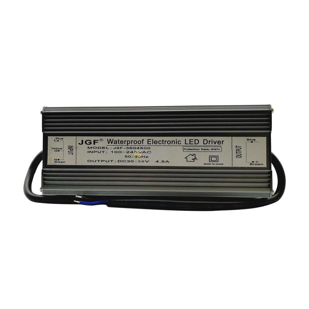 IP67 Imperméable 150 W pilote de LED à courant constant AC100-250V à DC30-36V 4500mA pour 150 W Haute Puissance lumière LED