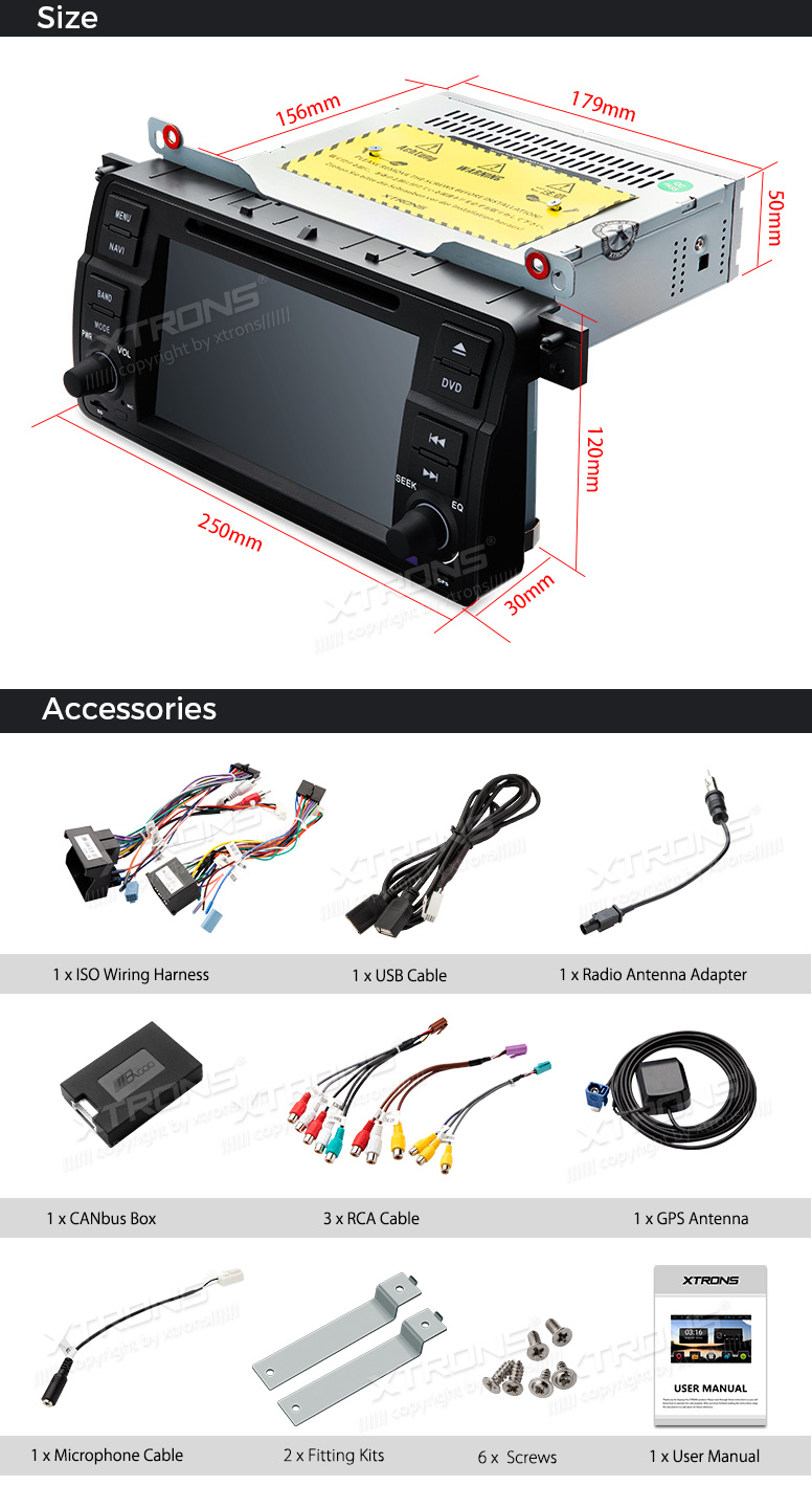 Xtrons 7 Android 71 Car Dvd Player Radio Gps Head Unit For Bmw E46 Electronics 718113 Reverse Wiring Harness Select 20002006 Toyota Pcd7746b 23 24 25 26