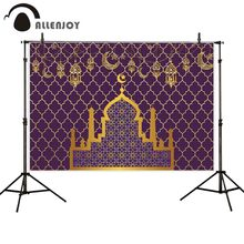 Allenjoy photography background Eid al-Fitr damask Golden castle Ramadan backdrop photo shoot photocall photobooth prop custom