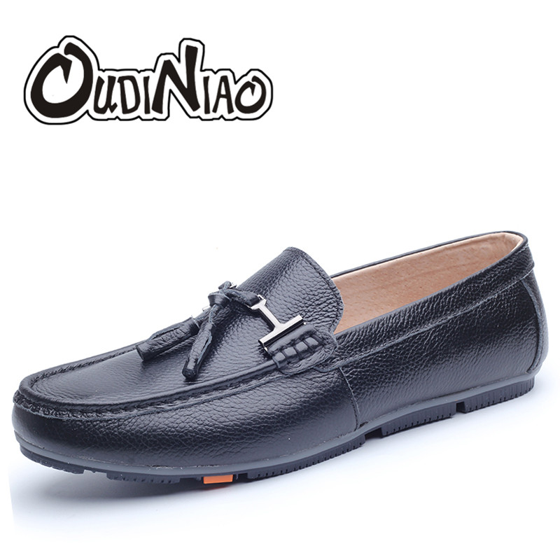 Cow Leather Breathable Slip On Men Shoes Fashion 2017 Black Mens Shoes Casual Tassel Loafers Pig Leather Lining Fringe Shoes Men vesonal 2017 top quality lycra outdoor ultralight slip on loafers men shoes fashion stripe mens shoes casual sd7005