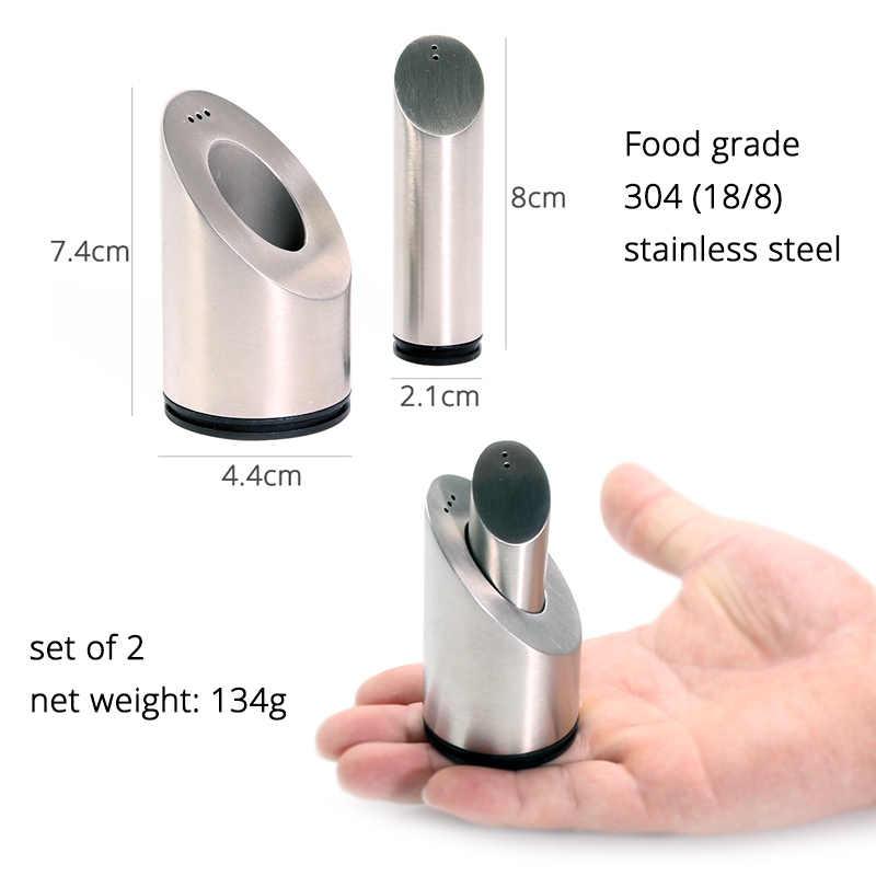 Шейкеры для соли и перца Набор для специй с отверстиями, высококачественные кухонные инструменты из нержавеющей стали 304 от Leeseph