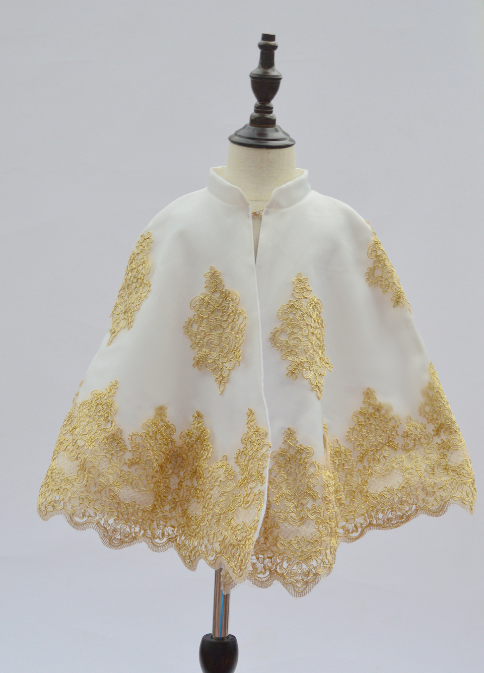 US $54 0 |Woman Bolero Brand banquet party graduation prayer Jesus cross  church dress shawl cape waistcoat girl baby embroidery cloak cape-in  Matching