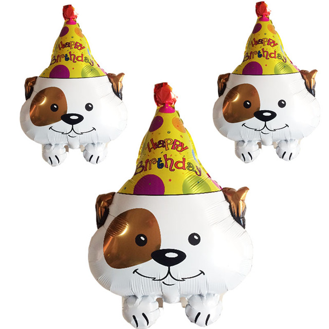 Happy Birthday Puppy Toys Dog Foil Balloon Kids Lovely Toy Animal