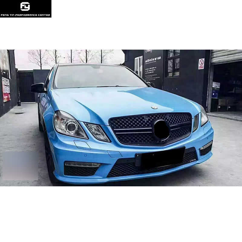 W212 E63 AMG Car body kit FRP Unpainted front bumper rear bumper side  skirts LED lights for Mercedes Benz W212 E300 AMG 10-13