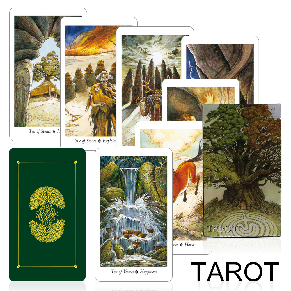 2020 Nature Tarot Cards High Quality Full English Cards Game Mysterious Animal Divination Fate For Home Party Board Game