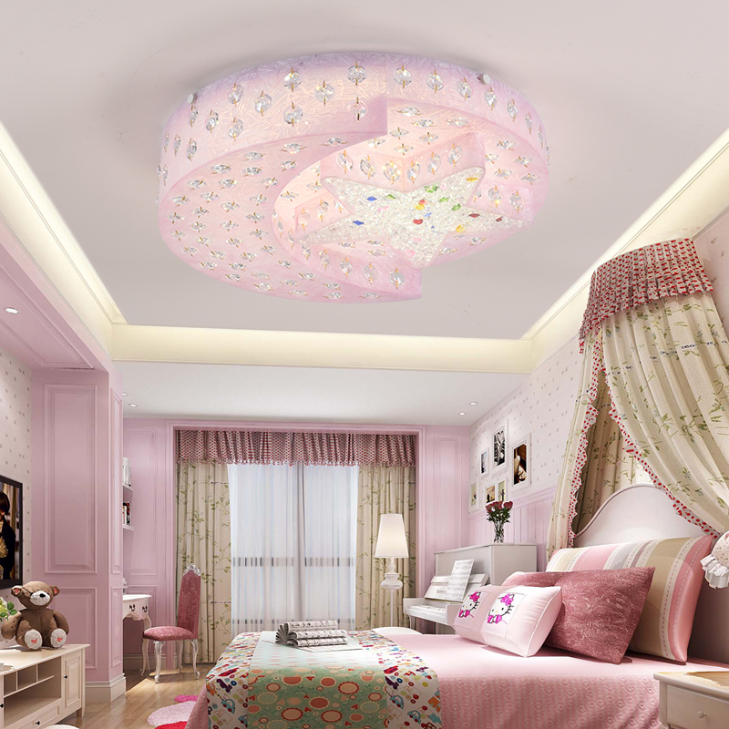Moon Lights Bedroom: Star Moon Child Light Men's Bedroom K9 Crystal Light