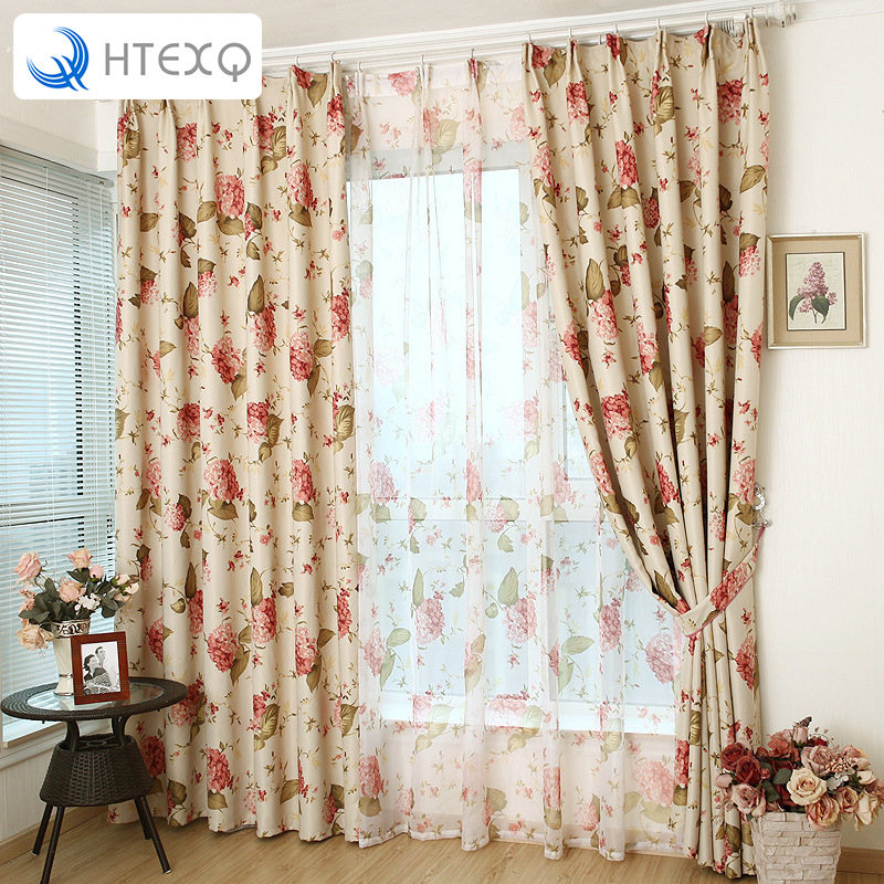 Vintage Rustic Style Printed Design Room Darkening Blackout Curtain Panels With Antique Grommet Top Or Hook