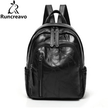 2018 Genuine Leather Rucksack Women Backpack Sac A Dos Femme Travel Laptop Backpack School Backpack Bags For Teenage Girls