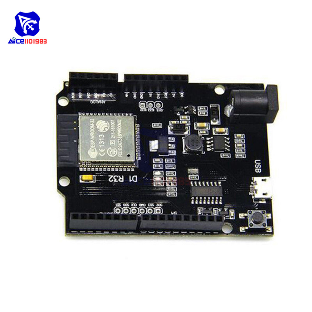 DC 5 -12V Development Board for Arduino UNO R3 Wemos TTGO D1 R32 Mini ESP32 WIFI Wireless Bluetooth CH340 with Micro USB Adapter