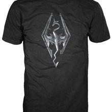 Skyrim-Dragão Logotipo Vestuário T-Shirt L-Preto Dos Homens Engraçados O  Pescoço 88b84ba1c36a