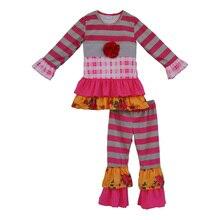 Nouvelle Arrivée D'hiver Enfants Tenues Coton Enfant En Bas Âge Filles Boutique Vêtements Bébé Floral Vêtements Enfants Vêtements Ensembles F061