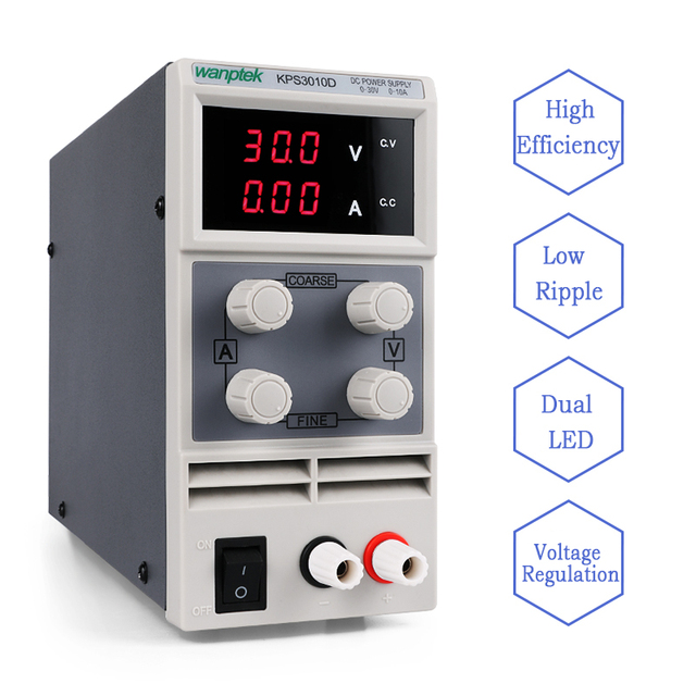 30V 10A DC Power Supply KPS3010D Variable Adjustable DC Swithing single channel  Regulated Laboratory Power Supply PS3010D