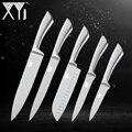 <font><b>XYj</b></font> 5 шт. набор кухонных ножей из нержавеющей стали с высокой твердостью 7Cr17mov кухонный комплект ножей шеф-повара