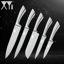 XYj 5PCS Stainless Kitchen Knife Set  High Hardness 7Cr17mov Steel Cooking Knive Master Chef Kitchenware