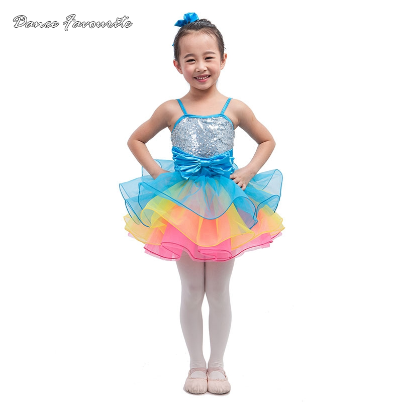 Dance Favourite sequin on satin bodice ballet tutu, girl stage performance ballet costume jazz/tap dance costume ballerina tutu