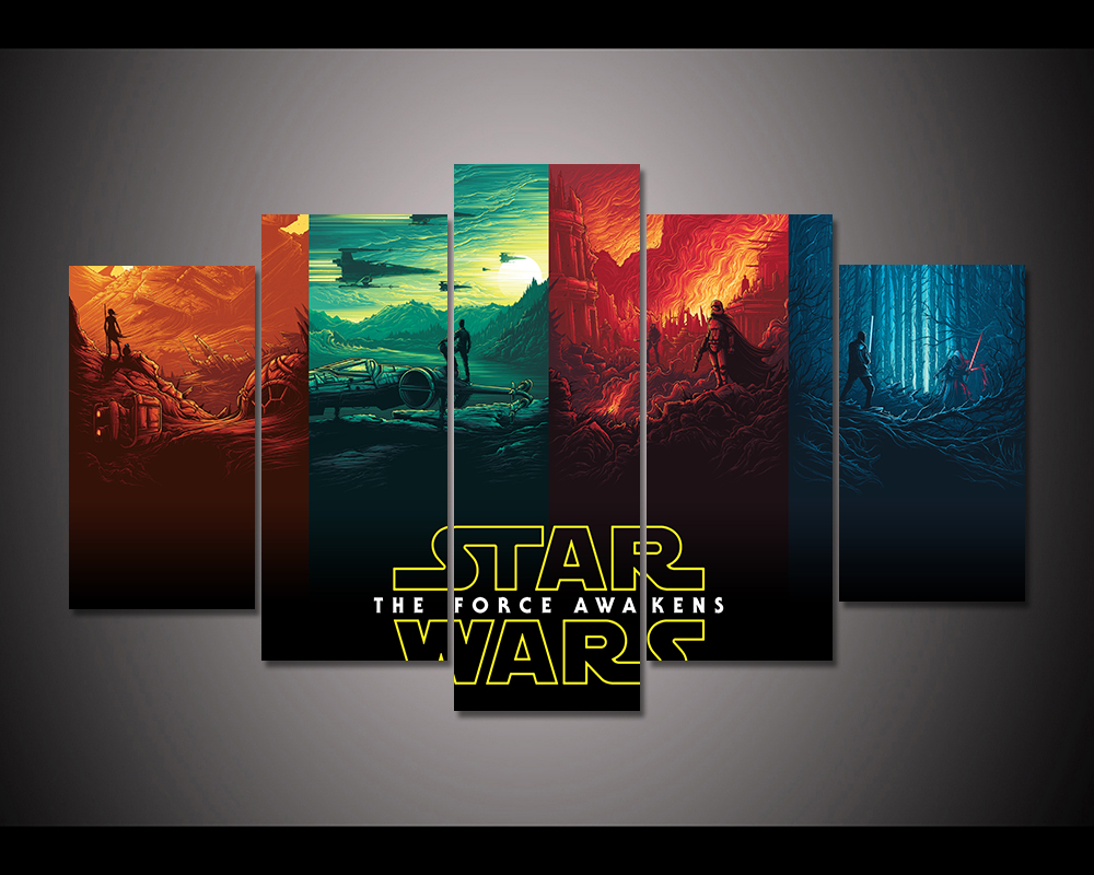 HD Print Oil Painting Home Decor Art on Canvas Star Wars 3PCS Unframed