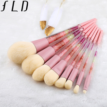 FLD 8Pcs Colorful Professional Makeup Brush Set Kit Eyeliner Eye Shadow Brush Set Face Powder Brush Beauty Tools