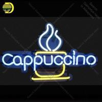 Neon Signs luz Cappuccino sinal Lâmpada de Néon Lâmpada Artesanato Beer Bar PUB shop exibição Letrero Negócios neon enseigne Neons lumine