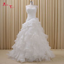 Buy purple and white wedding dresses and get free shipping on jark tozr custom made sweetheart neck lace up pleat ruffles skirt white purple green pink red junglespirit Choice Image